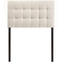Modway Lily Tufted Panel Headboard in Ivory