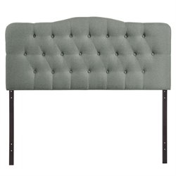 Modway Annabel Tufted Panel Headboard in Gray
