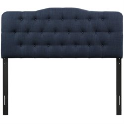 Modway Annabel Tufted Panel Headboard in Navy