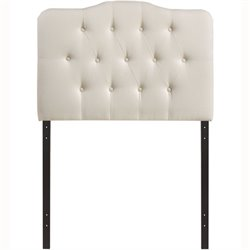 Modway Annabel Tufted Panel Headboard in Ivory