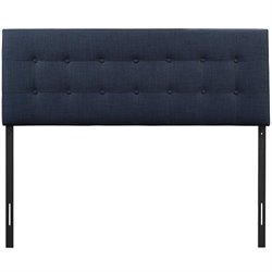 Modway Emily Panel Headboard in Navy