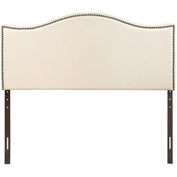 Modway Curl Upholstered Headboard in Ivory