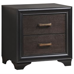 Modway Madison 2 Drawer Nightstand in Walnut