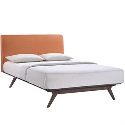 Modway Tracy Panel Bed in Orange