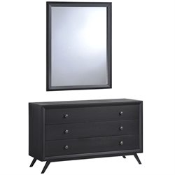 Modway Tracy 3 Drawer Dresser in Black