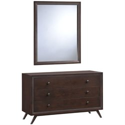 Modway Tracy 3 Drawer Dresser in Cappuccino