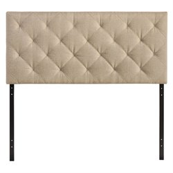 Modway Theodore Panel Headboard in Beige