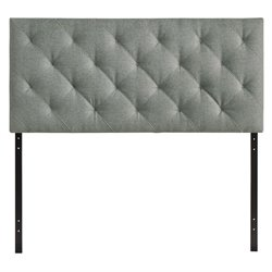 Modway Theodore Panel Headboard in Gray