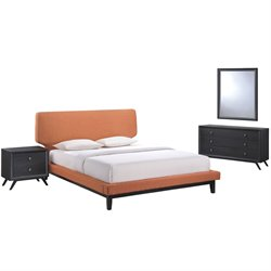Modway Bethany 4 Piece Panel Bedroom Set