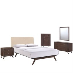 Modway Tracy 5 Piece Queen Bedroom Set 1