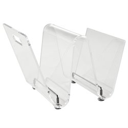 Modway Current Acrylic Magazine Rack