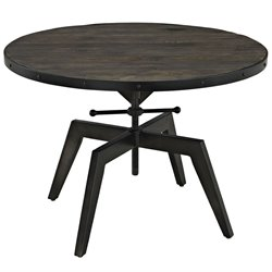 Modway Grasp Round Coffee Table in Black