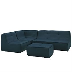 Modway Align 4 Piece Upholstered Sectional Set 1
