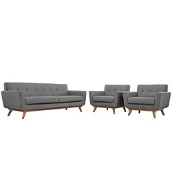 Modway Engage Sofa Set in Light Gray