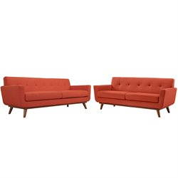 Modway Engage Sofa Set in Atomic Red 1