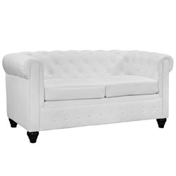 Modway Earl Faux Leather Tufted Loveseat