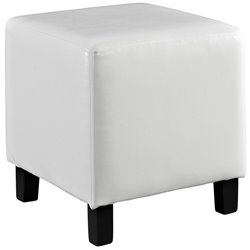Modway Lodge Square Faux Leather Ottoman