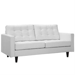 Modway Empress Leather Tufted Loveseat