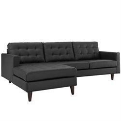 Modway Empress Leather Tufted Sectional