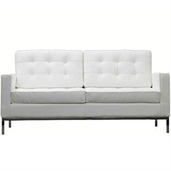 Modway Loft Leather Tufted Loveseat