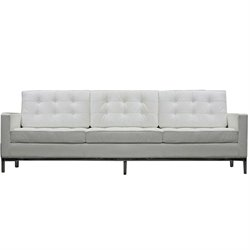 Modway Loft Leather Tufted Sofa