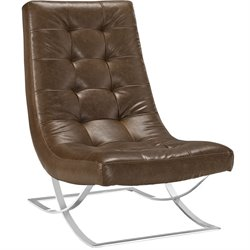 Modway Slope Vinyl Tufted Accent Chair