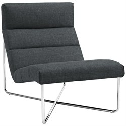 Modway Reach Fabric Accent Chair in Gray