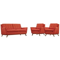 Modway Beguile 3 Piece Fabric Sofa Set