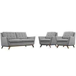 Modway Beguile 3 Piece Fabric Sofa Set 3