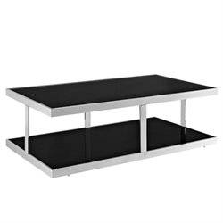 Modway Absorb Glass Top Coffee Table in Black
