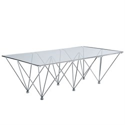 Modway Prism Glass Top Coffee Table