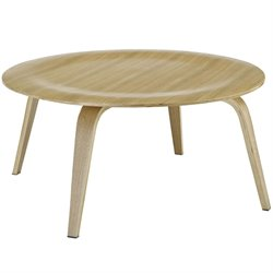 Modway Plywood Round Coffee Table