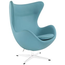 Modway Glove Leather Swivel Accent Chair