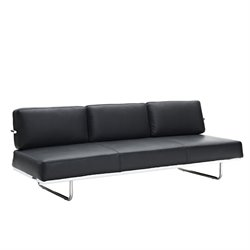 Modway Charles Leather Sofa Bed