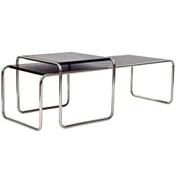 Modway Blox Nested Coffee Table in Black