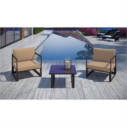 Modway Fortuna 3 Piece Outdoor Patio Sofa Set