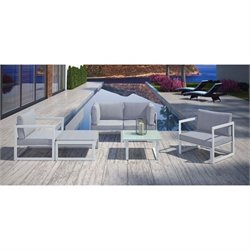 Modway Fortuna 6 Piece Outdoor Patio Sofa Set