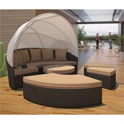 Modway Quest Outdoor Patio Canopy Daybed