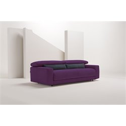 Pezzan Diablo Queen Pull Out Sofa Bed in Eggplant