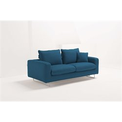 Pezzan Scirocco Queen Pull Out Sofa Bed in Ocean Blue