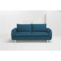 Pezzan Maestro Queen Pull Out Sofa Bed in Ocean Blue