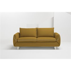 Pezzan Maestro Queen Pull Out Sofa Bed in Summer Orange
