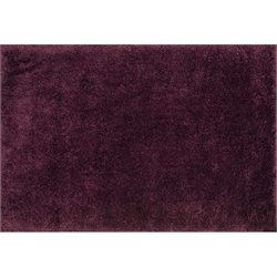 Cozy Hand Tufted Shag Rug in Prune