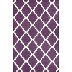 Nuloom Hand Hooked Marrakech Trellis Rug in Purple