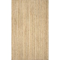 Nuloom Hand Woven Rigo Jute Rug in Natural
