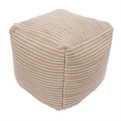 Jaipur Alma Wool and Cotton Cube Pouf