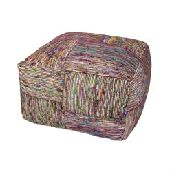 Jaipur Rugs Milford By Rug Republic Recycled Square Pouf