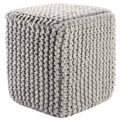 Jaipur Rugs Scandinavia Wool Cube Pouf in Gray