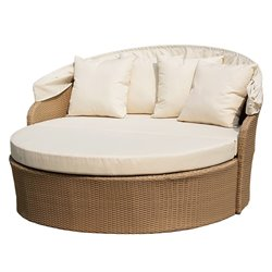 W Unlimited Blueczy Patio Daybed with Cushions in Natural Brown