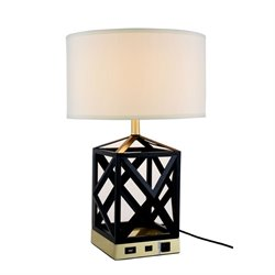 Elegant Lighting Brio Table Lamp in Black
